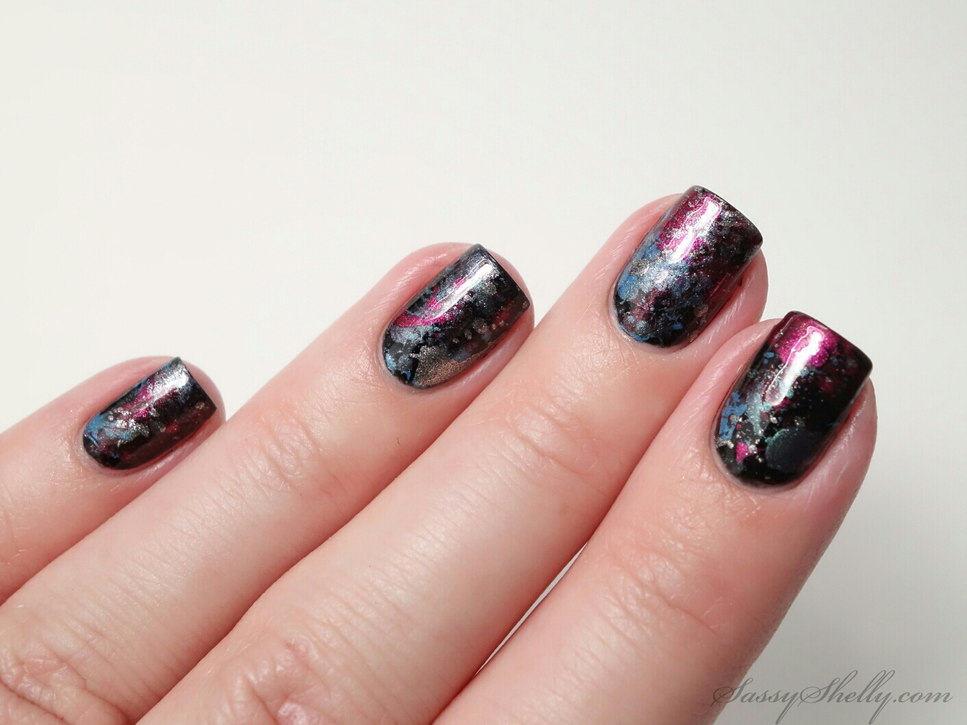 How To The Splatter Mani Easy Nail Art