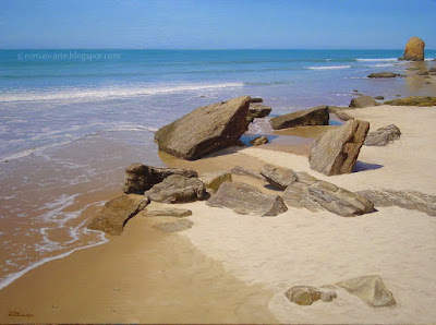 Cuadros Con Olas Y Playas Marinas Carlos García Román