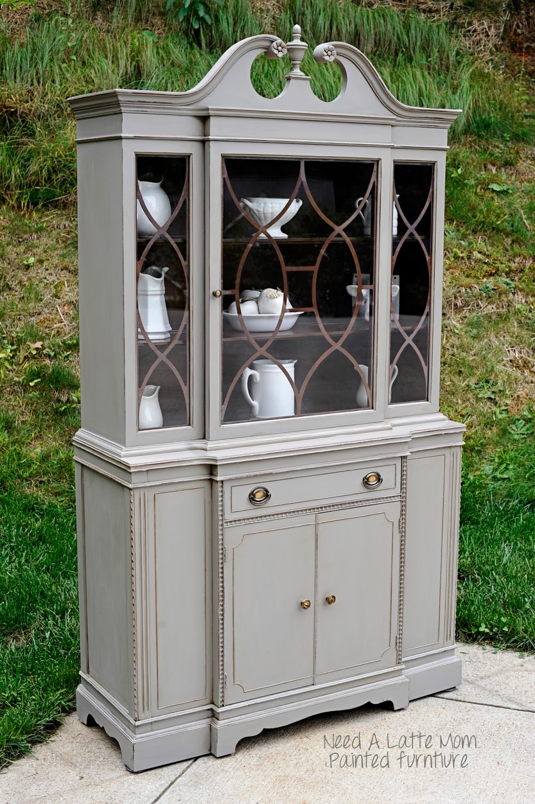 need a latte mom french linen china cabinet asheville furniture painter. Black Bedroom Furniture Sets. Home Design Ideas