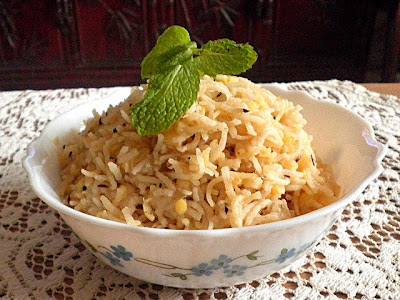 Moong Dal Rice Recipe @ http://treatntrick.blogspot.com