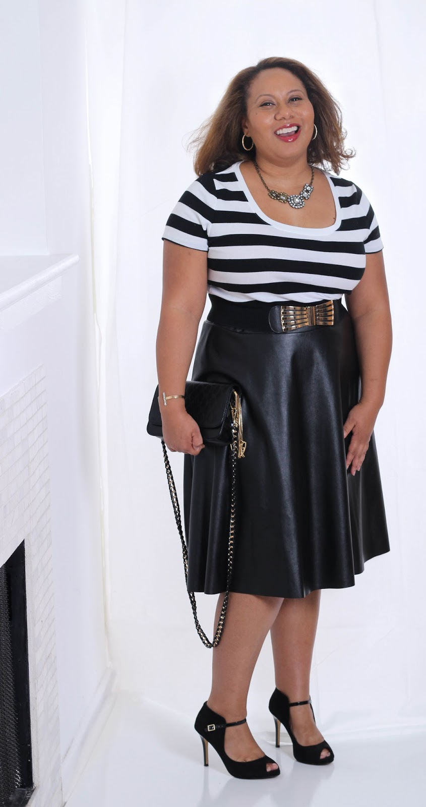Try the Trend: Faux Leather | Dressy Casual | Fall Fashion | Curvy Outfit Ideas | Petite Outfit Ideas | Plus Size Fashion | OOTD | Professional Casual Chic Fashion and Style Inspiration