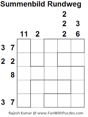 Summenbild Rundweg (Mini Puzzles Series #7) Solution