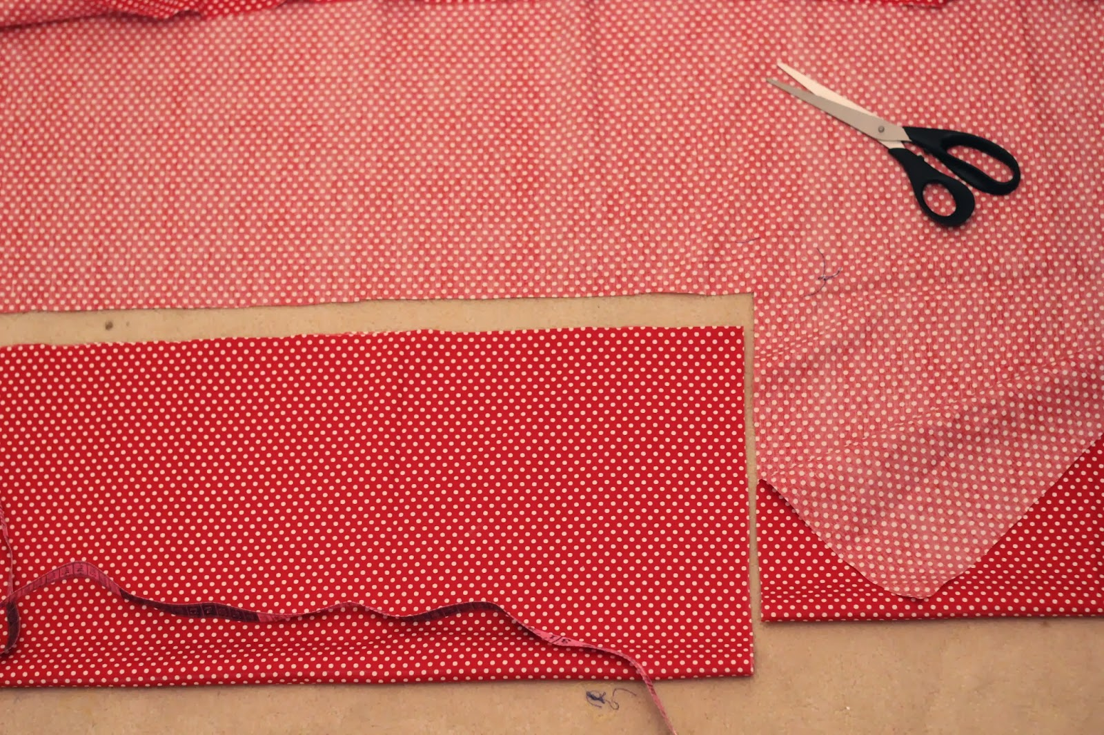 cut cloth for gathered skirt
