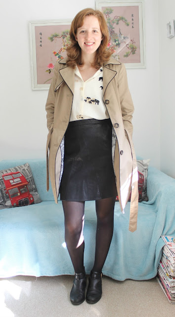 OOTD Elephant Shirt and Leather Skirt Zara Fashion Blogger
