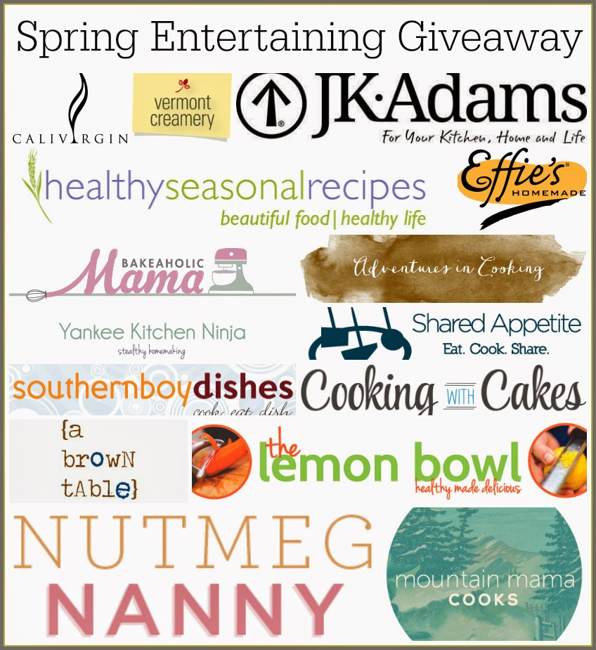 collage of spring entertaining giveaway participants