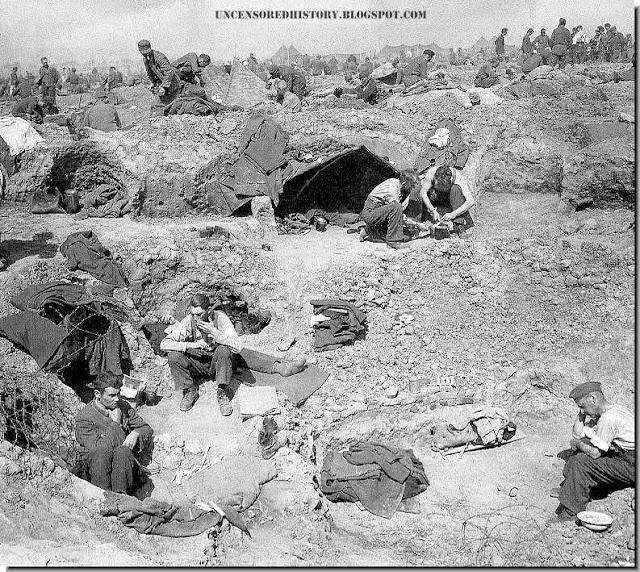 German prisoner of war Rhineland meadow camps
