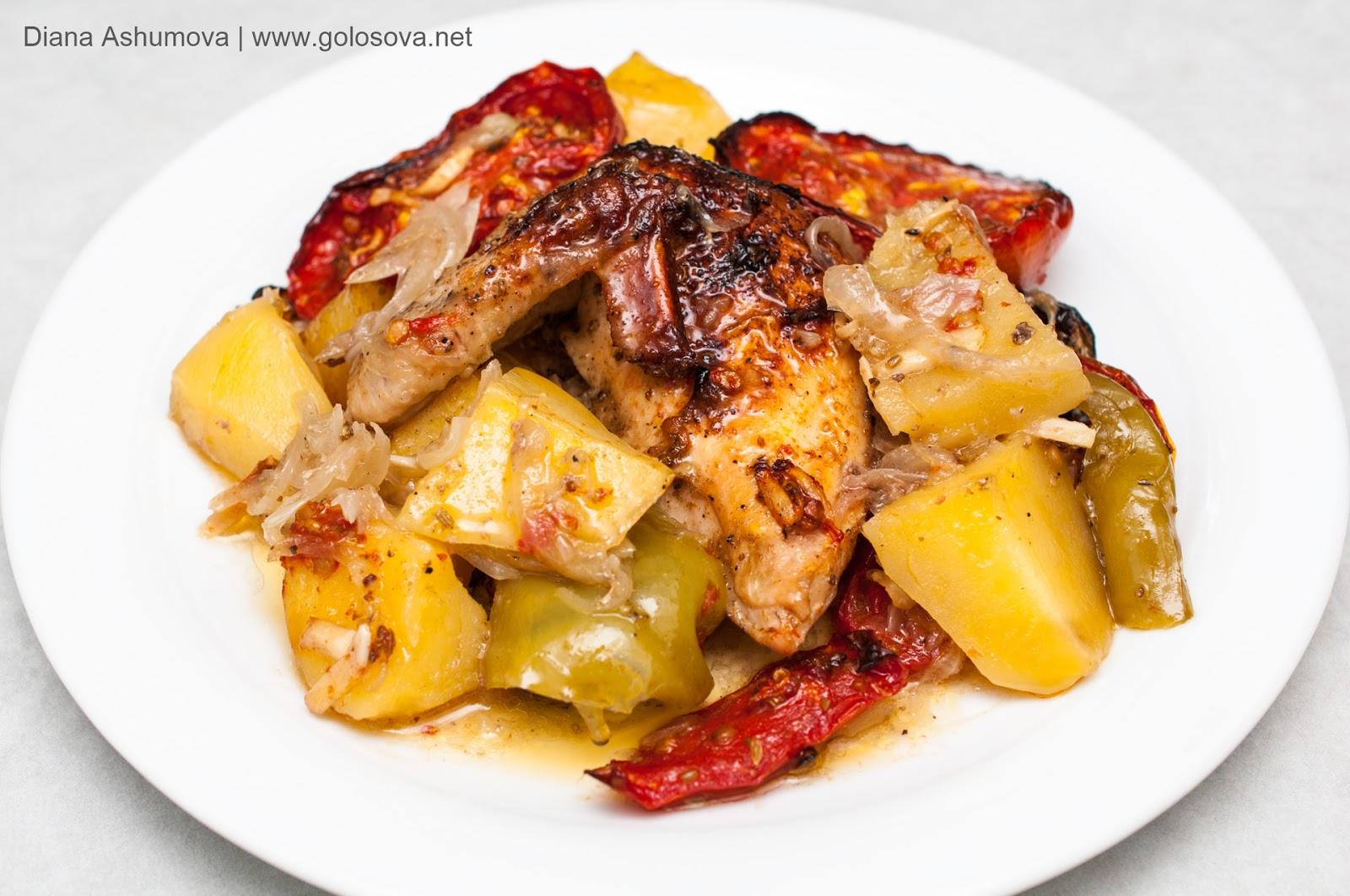 жаркое с курицей и картошкой в духовке рецепт с фото