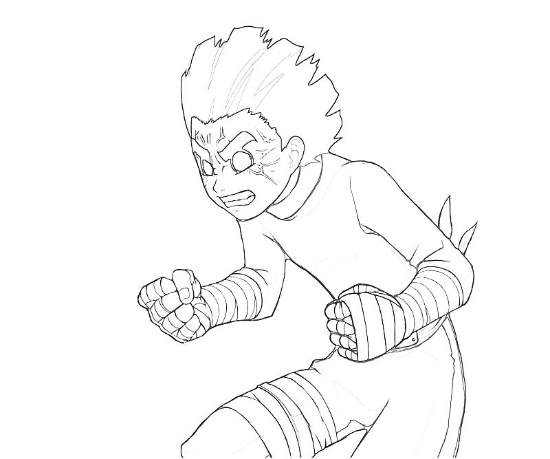 Printable Naruto Rock Lee Power Coloring Pages Title