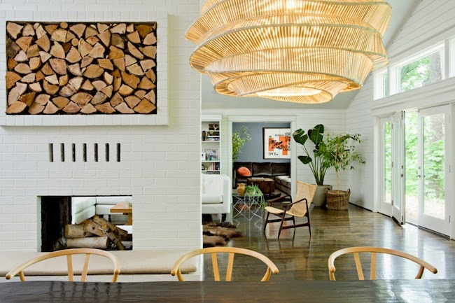 A Unique And Oversized Light Fixture Grabs The Attention In This Space. Via  Jessica Helgerson Interior Design