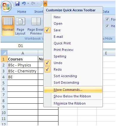 how to create a checkbox in word 2007