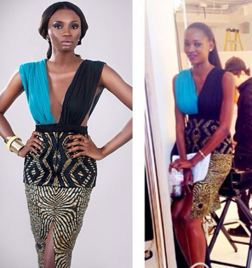 Oluchi Share Gorgeous Pic Of Her In High Slit Dress At ANTM Finale + Meet ANTM Winner