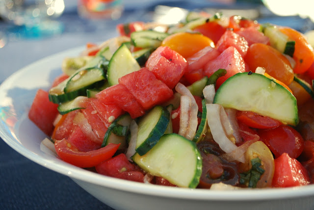 Tomato Watermelon Salad recipe