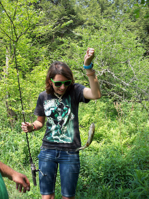 Savannah caught a brown trout