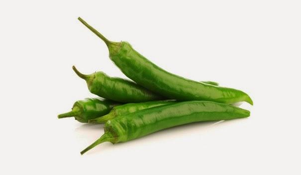 La guindilla verde es muy rica en Vitamina C
