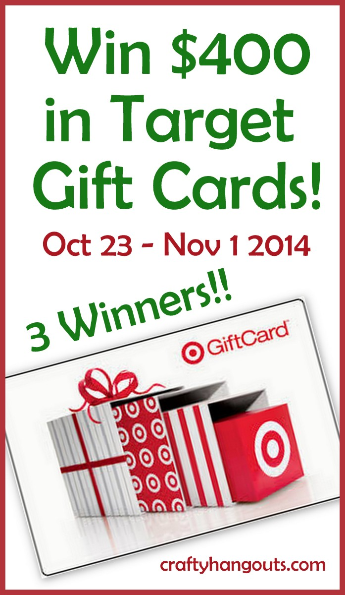 Win $400 in Target gift cards now!  #giveaway #win #labelcrafts
