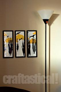 lamp for lamp make-over, garage sale find