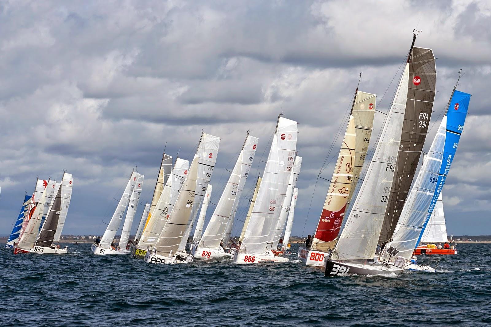 La flotte de la Lorient BSM au départ.