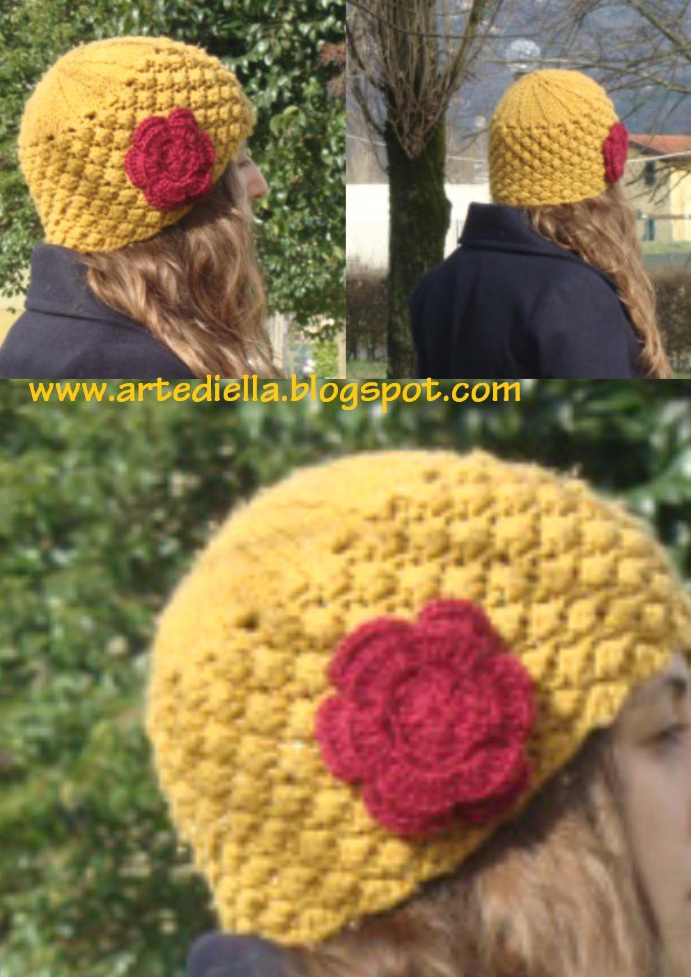 Le fragole di stoffa schema cappello di lana ai ferri a - Punto a punto per i bambini di 3 anni ...