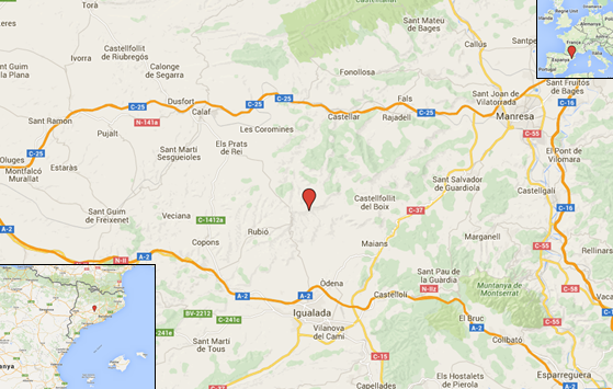 On es troba la Serra de Rubió?