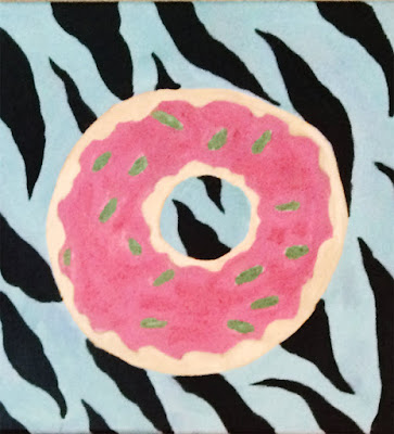Painting of donut