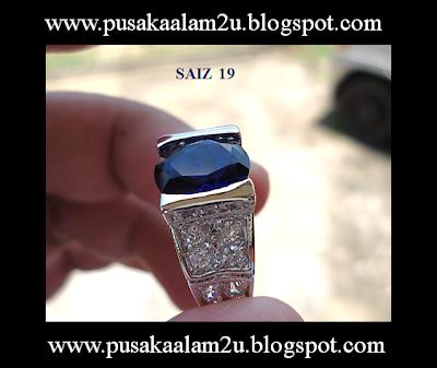 CINCIN BATU NILAM BIRU - SAIZ 19 ( SOLD )