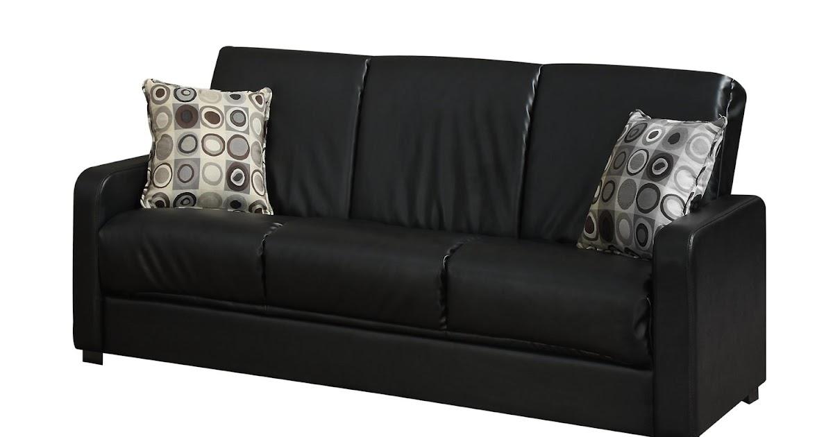 how to buy black leather sofa online black leather sleeper sofa. Black Bedroom Furniture Sets. Home Design Ideas