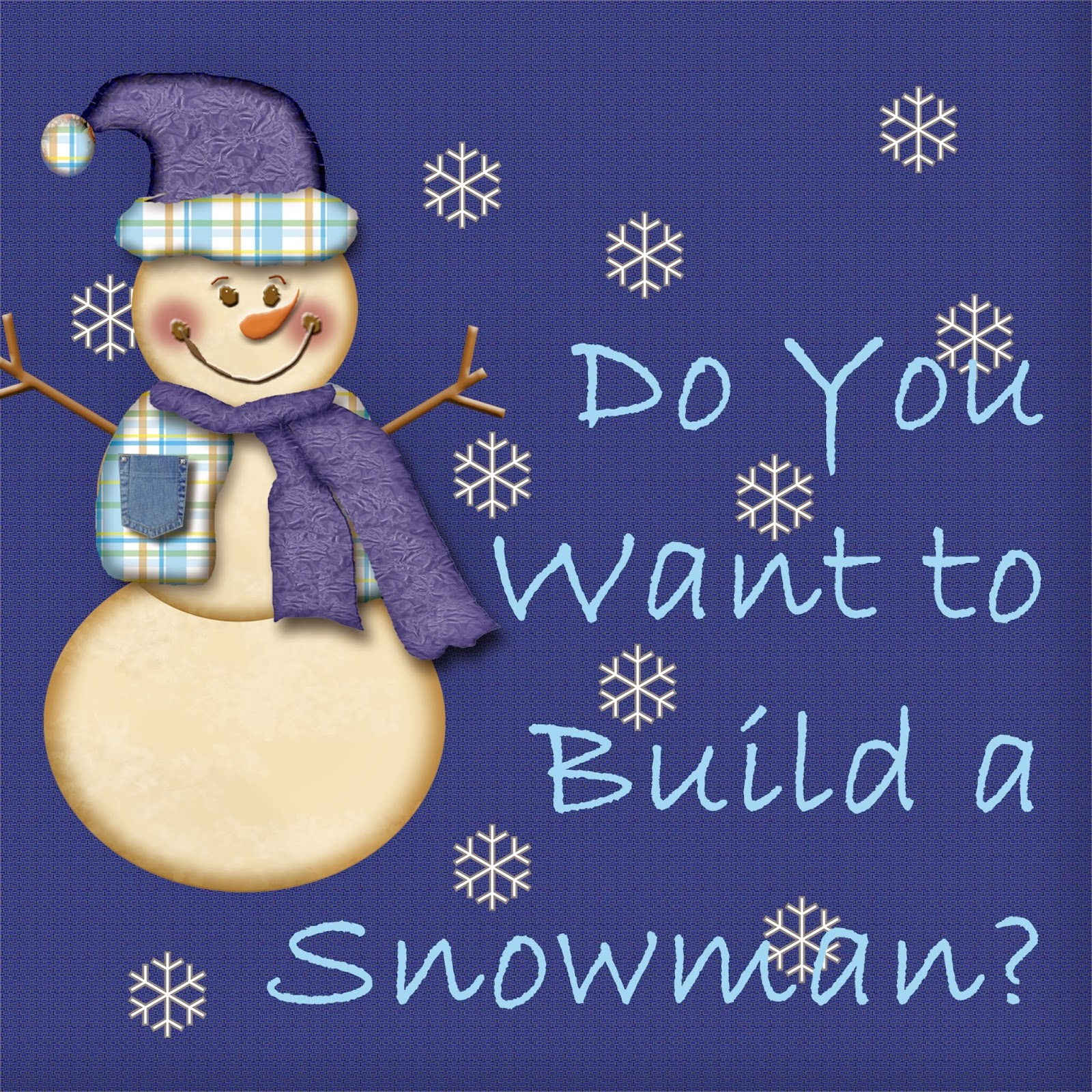 Do you want to build a snowman with marshmellows party invitations