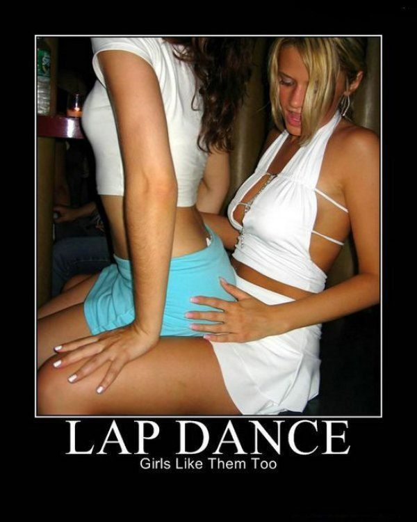 Female stripper lap dance