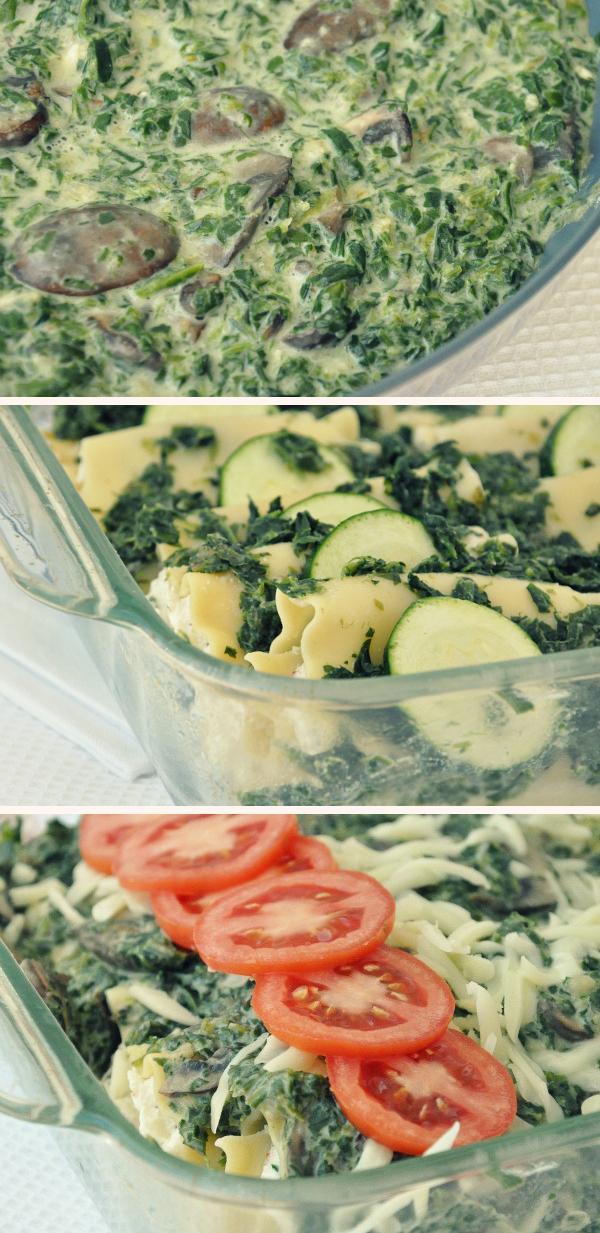 vegetarian veggie patch lasagna creamy spinach sauce