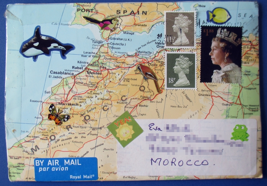 Map Envelope from UK