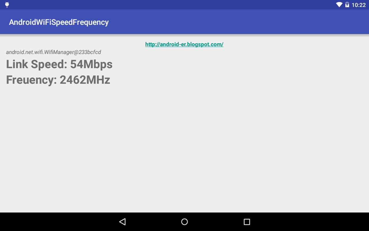Android er get wifi link speed and frequency - Er finestra android ...