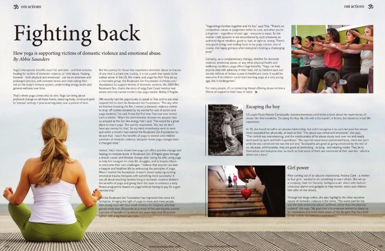 om yoga fighting back