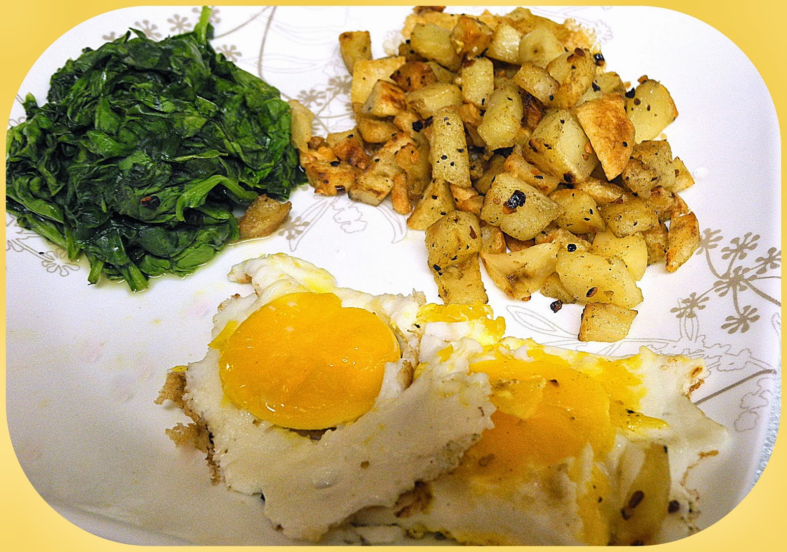 BIZZY BAKES: Crispy Sage Potatoes with Fried Eggs