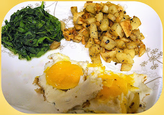 Crispy Sage Potatoes w/ Fried Eggs from Bizzy Bakes