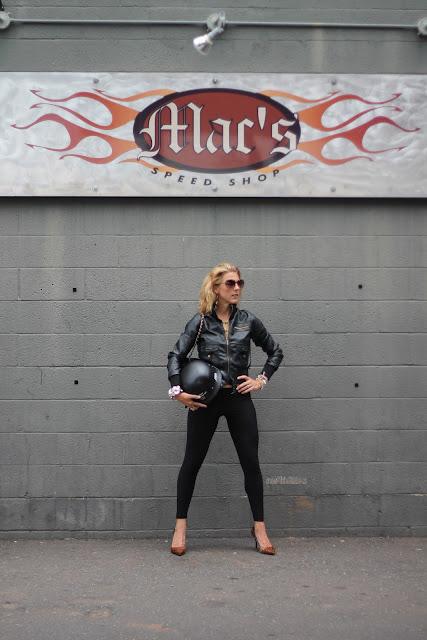 Forever 21 Vegan Leather Jacket, Black Leggings from Lipp Boutique
