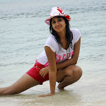 Wet Sanjana from Mugguru Movie  Spicy Pics