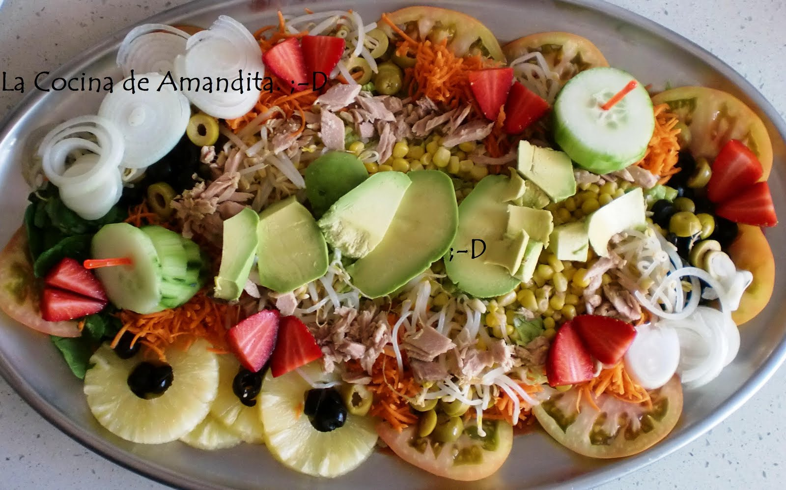 La cocina de amandita d una ensalada para cristina for Cocina 5 ingredientes jamie