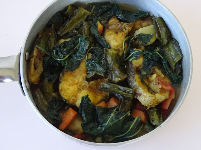 Fish stew with chilli leaves & winged beans