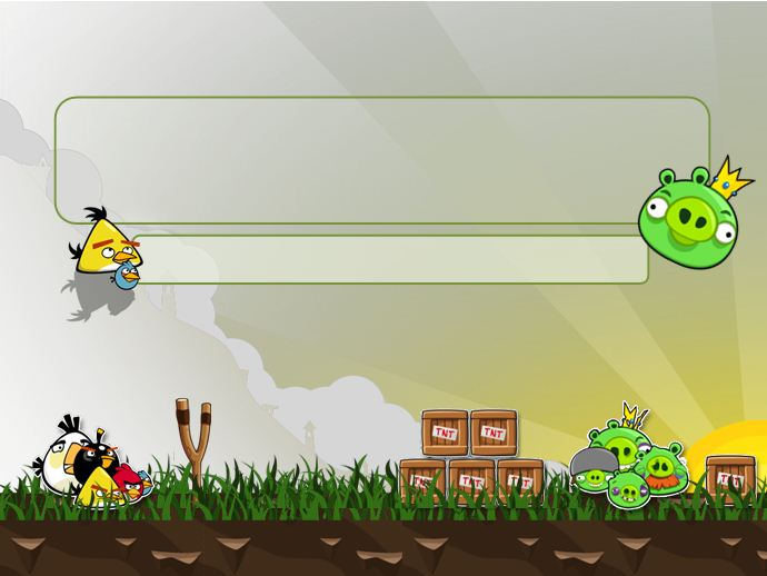 angry bird family powerpoint templates 4 presentation