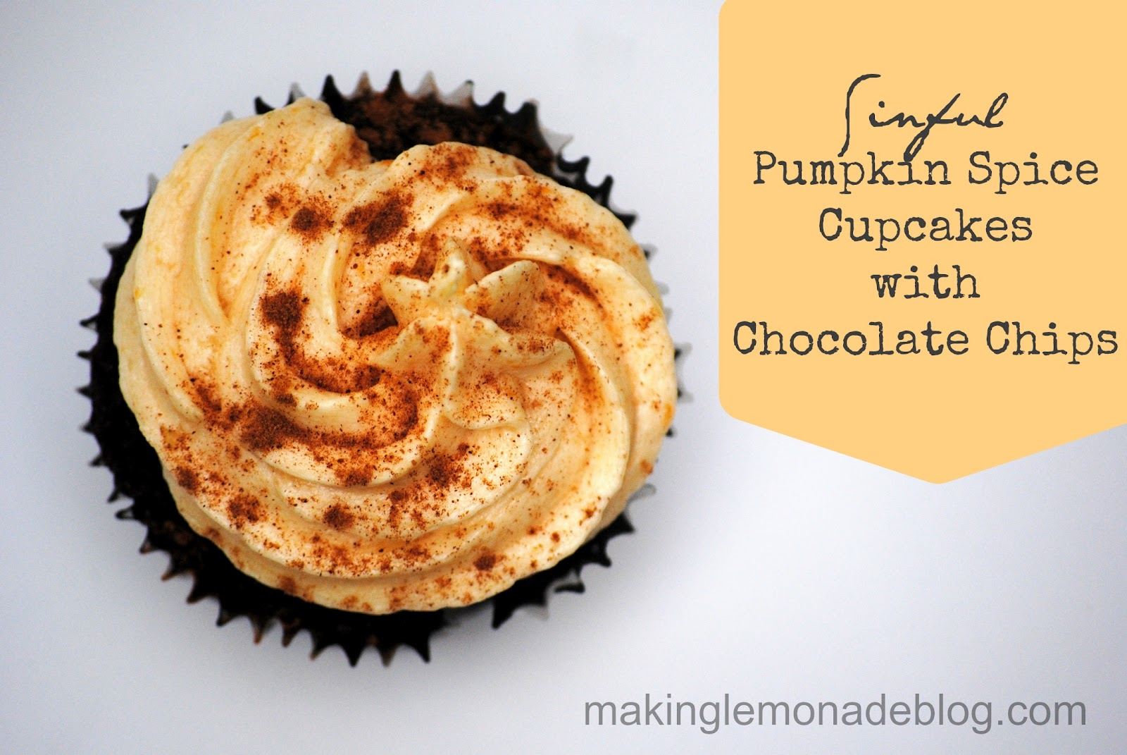 ... Pumpkin Spice Cupcakes with Chocolate Chips (easy chocolate cupcakes