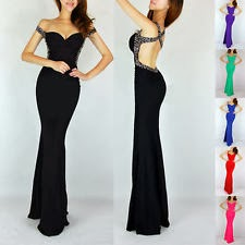 Women Black prom dress