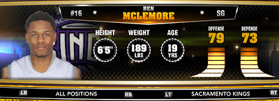 NBA 2K13 Kings Ben McLemore - Round 1 Pick 7th Overall