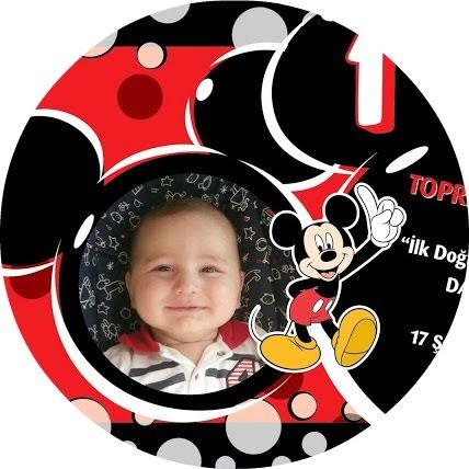Mickey Mouse Temalı 1 Yaş Doğum Günü
