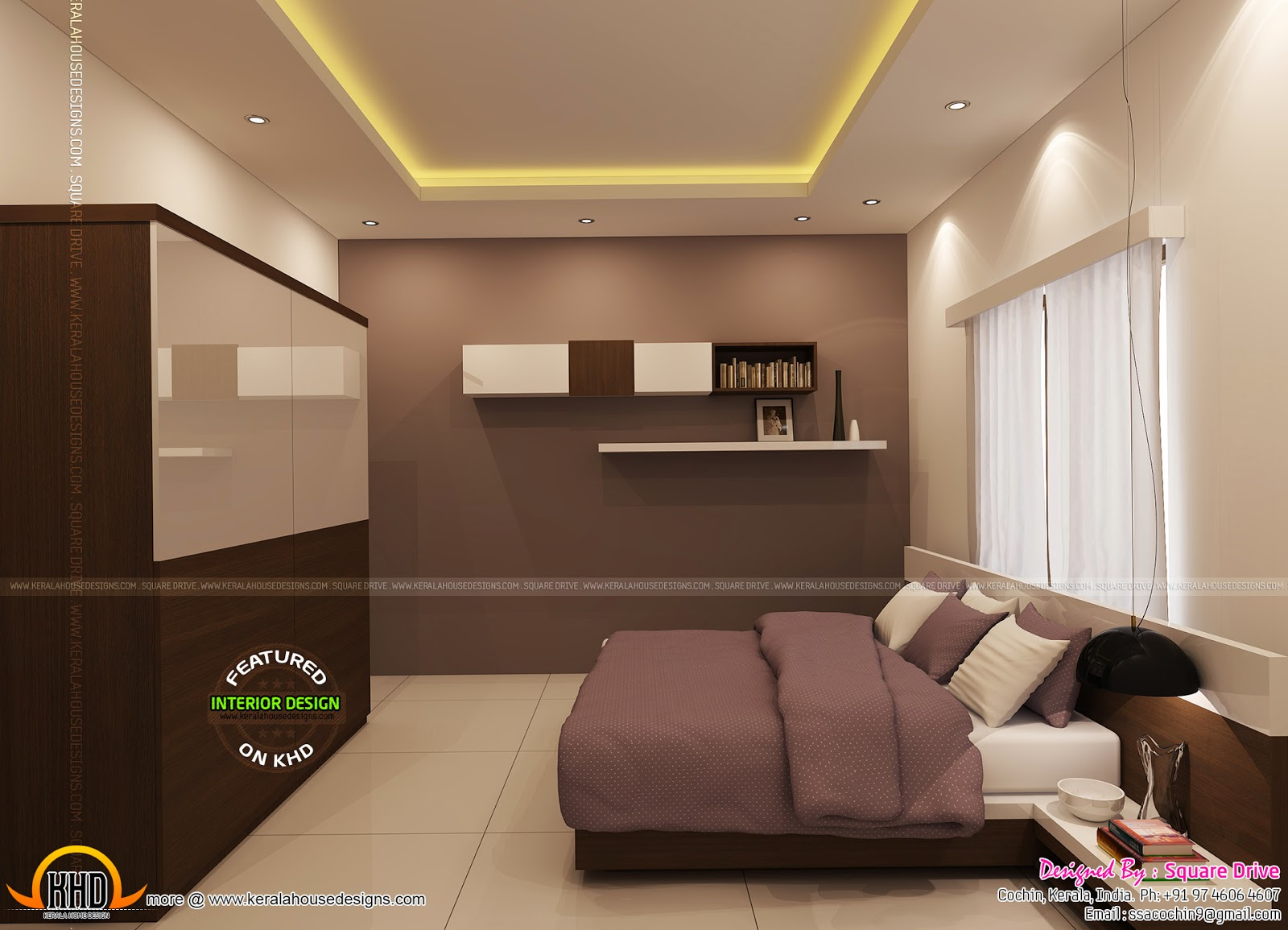 Bedroom interior designs kerala home design and floor plans for Kerala homes interior designs