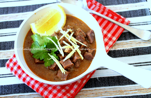 Laily's Food: Nihari (Indian Beef Stew)