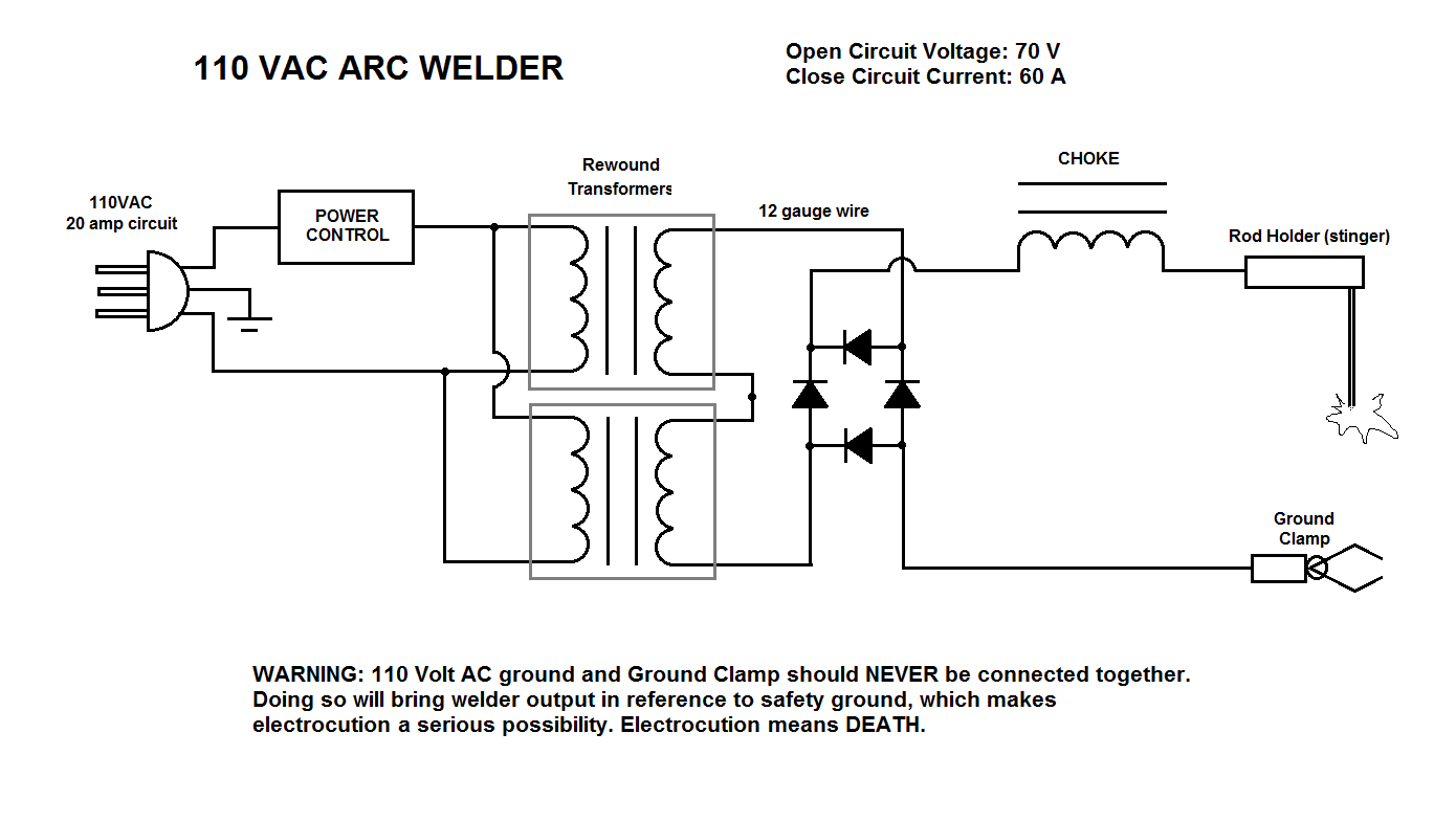 welderschematic from mind to machine diy 110 v portable arc welder with dc! welder plug wiring diagram at gsmx.co