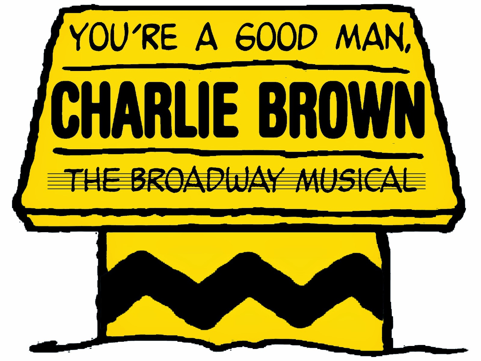 A Follow Spot Happiness Is CHARLIE BROWN at Conklins Barn II – Broadway Ticket Template