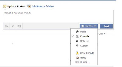 Privacy Settings for Facebook Staus