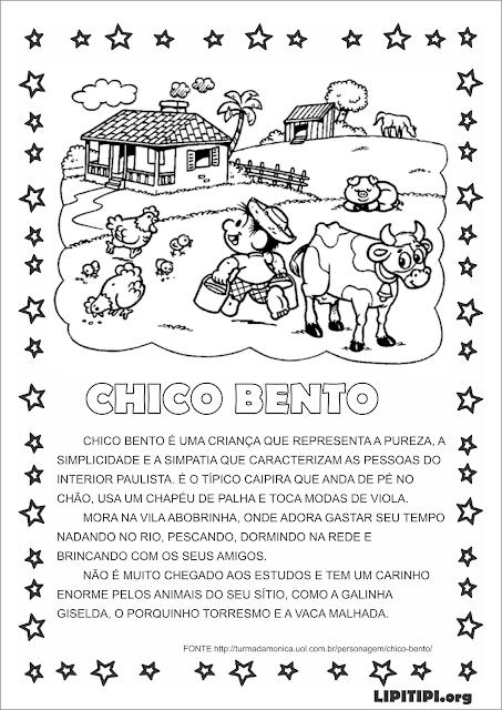 Atividade Texto sobre Chico Bento e Interpretação.