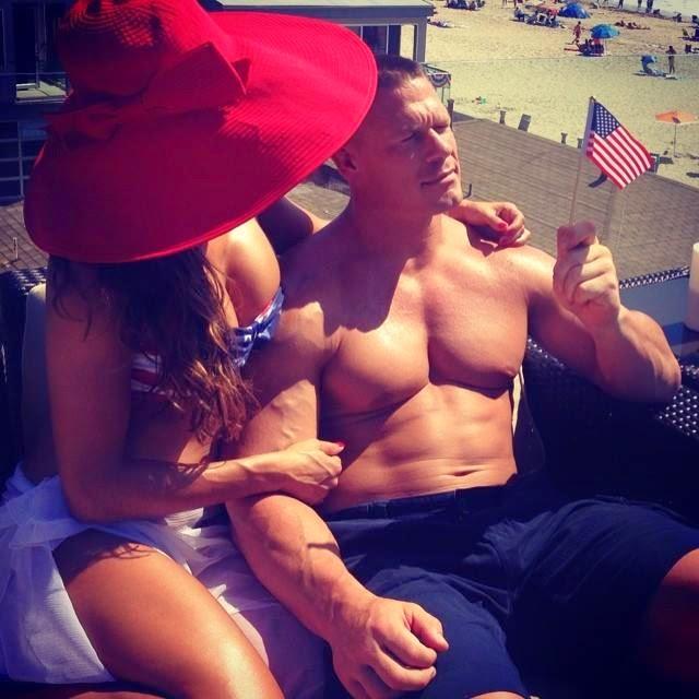 Photo Of Nikki Bella With John Cena At Beach.